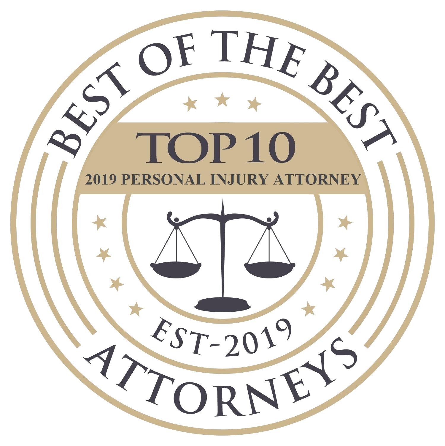 Top 10 Attorneys Badge